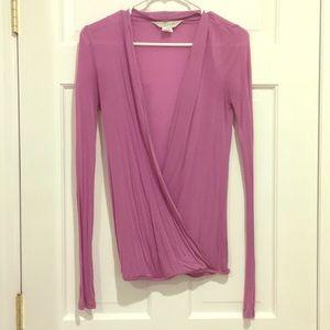 💜LUDI/VICTORIA'S SECRET Purple Open front Shirt
